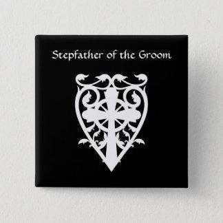 Badges Croix celtique gothique dans le beau-père de blanc