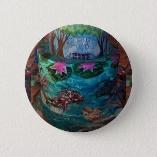 Badges Croquette de poisson de Koi au jardin botanique du
