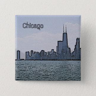 Badges Croquis d'horizon magnifique de Chicago