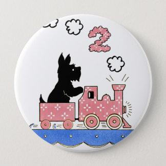 Badges Cru d'anniversaire an de deux bouton rond filles