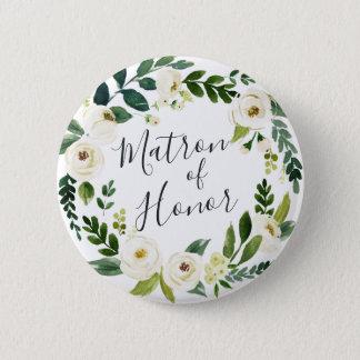 Badges Dame de honneur florale de guirlande d'albâtre