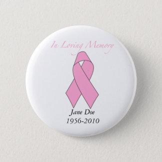 Badges Dans la mémoire affectueuse, cancer du sein