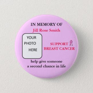 Badges DANS la MÉMOIRE du bouton de cancer du sein