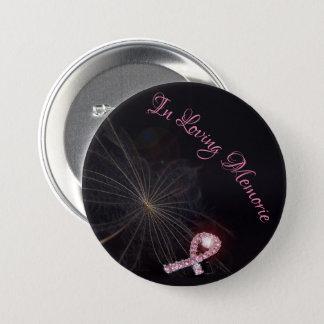 Badges Dans le bouton affectueux de ruban de rose de
