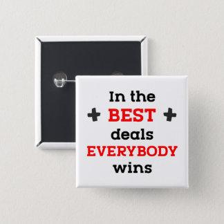 Badges Dans les meilleures affaires tout le monde gagne