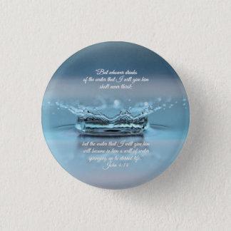 Badges De l'eau bleue de la vie vers John de bible de