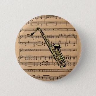 Badges ~ de saxophone avec l'arrière - plan de musique de