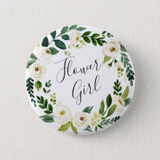Badges Demoiselle de honneur florale de guirlande
