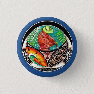 Badges Dessin d'art de caméléon