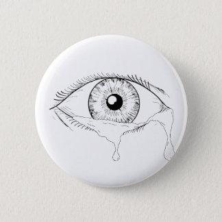 Badges Dessin débordant pleurant de larmes d'oeil humain