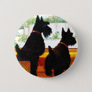 Badges Deux chiens de Scottie à Noël
