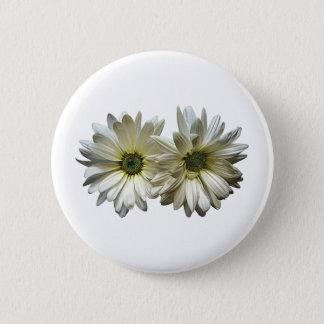 Badges Deux marguerites blanches