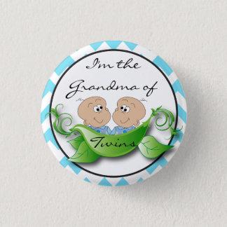 Badges Deux pois dans un thème de douche de bébé de