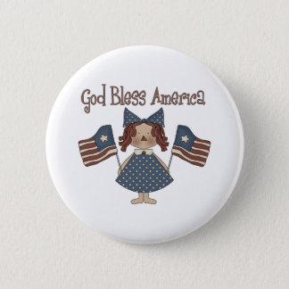 Badges Dieu bénissent l'Amérique