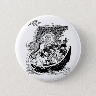 Badges dieux chanceux du 七福神 sept