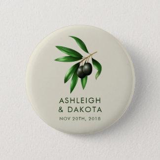 Badges Dîner botanique de répétition de branche d'olivier