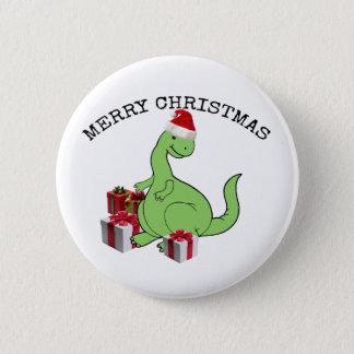 Badges Dinosaure drôle mignon de Père Noël de Noël
