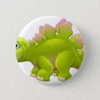 Badges Dinosaure mignon de bande dessinée de Stegosaurus