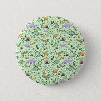 Badges Dinosaures en vert