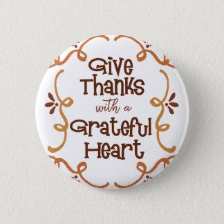 Badges Donnez les mercis avec un coeur reconnaissant