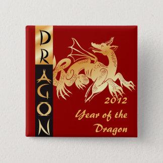Badges Dragon et bannière d'or