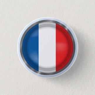 Badges Drapeau abstrait de la France, bouton français de