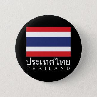 Badges Drapeau de la Thaïlande avec le mot de la