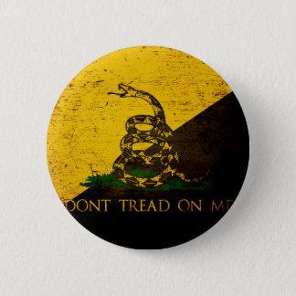 Badges Drapeau grunge noir d'Anarcho Gadsden