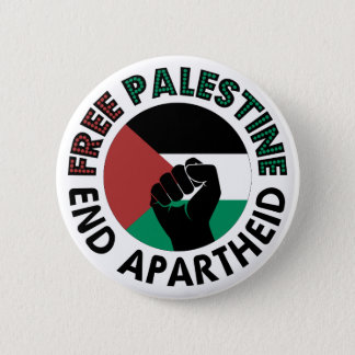 Badges Drapeau libre de la Palestine d'apartheid de fin