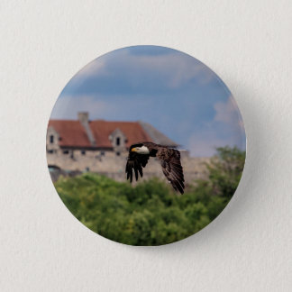 Badges Eagle chauve passant le fort Ticonderoga