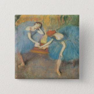 Badges Edgar Degas | deux danseurs au repos, danseurs