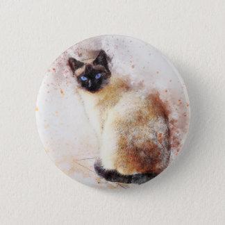 Badges Éléments d'abrégé sur chat siamois