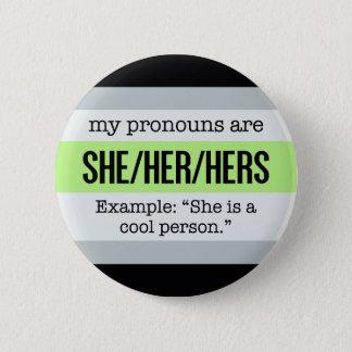 Badges Elle/ses pronoms - drapeau d'Agender