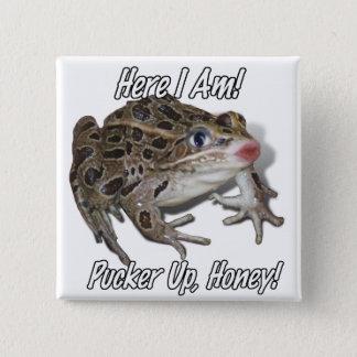 Badges Embrassant la grenouille - ride, miel !