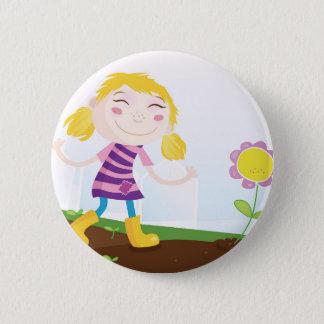 Badges Enfant dans le jardin