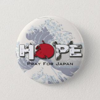 Badges ESPOIR - priez pour des goupilles du Japon