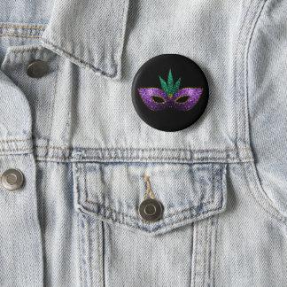 Badges Étincelles pourpres d'or vert de masque de mardi