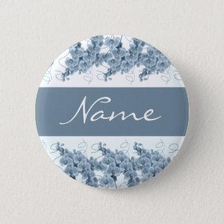 Badges Étiquettes nommées de mariage - orchidées bleues