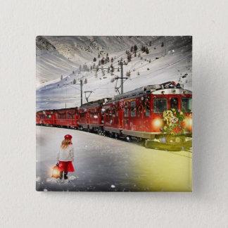 Badges Express de Pôle Nord - train de Noël - train de