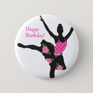 Badges Faveur de bouton de joyeux anniversaire de rose de