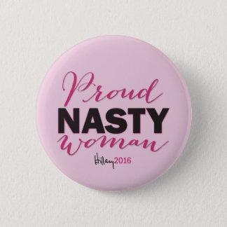 Badges FEMME MÉCHANTE FIÈRE pour le bouton de campagne de