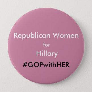 Badges Femmes républicaines roses pour le grand Pin de