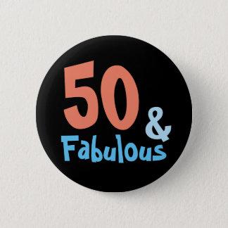 Badges Fête d'anniversaire noire fabuleuse
