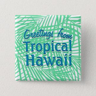 Badges Feuille vert plat tropical