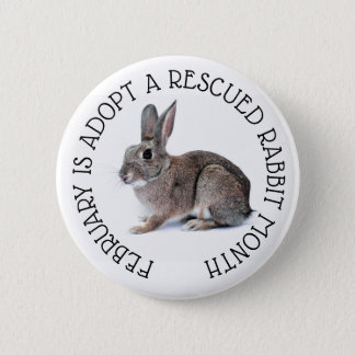 Badges Février est adoptent un bouton secouru de mois de