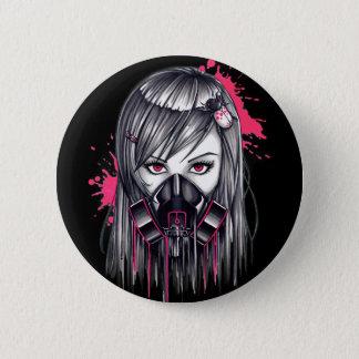 Badges Fille au néon de masque de gaz