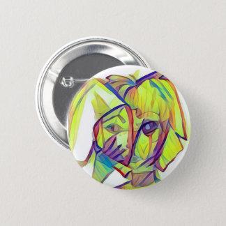 Badges Fille avec le bouton de masque de lapin