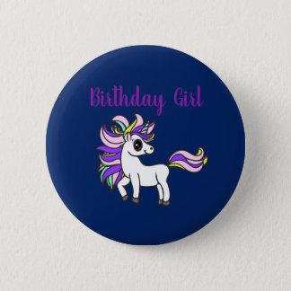 Badges fille d'anniversaire de licorne, fête