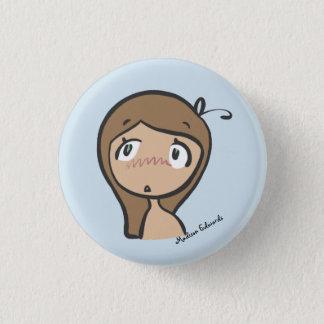 Badges Fille Emoji - bouton inquiété