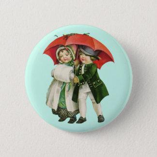 Badges Fille vintage de Noël et bouton de garçon